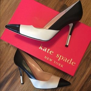 EUC Black and White Kate Spade Pumps